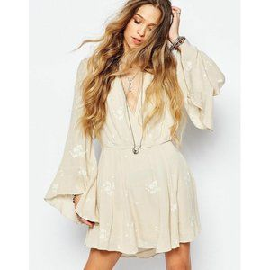 Free People Jasmine Floral Almond Boho Dress S US